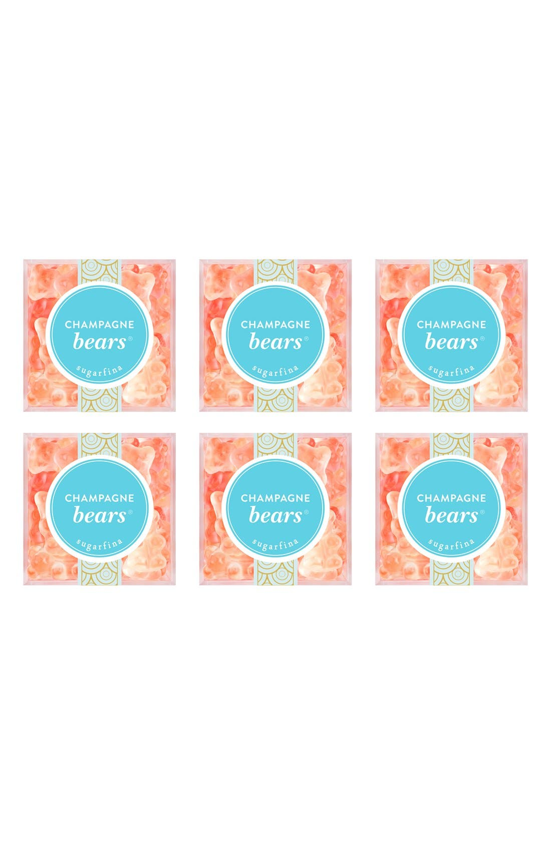 Main Image - sugarfina Set of 6 Champagne Bears® Candy Cubes