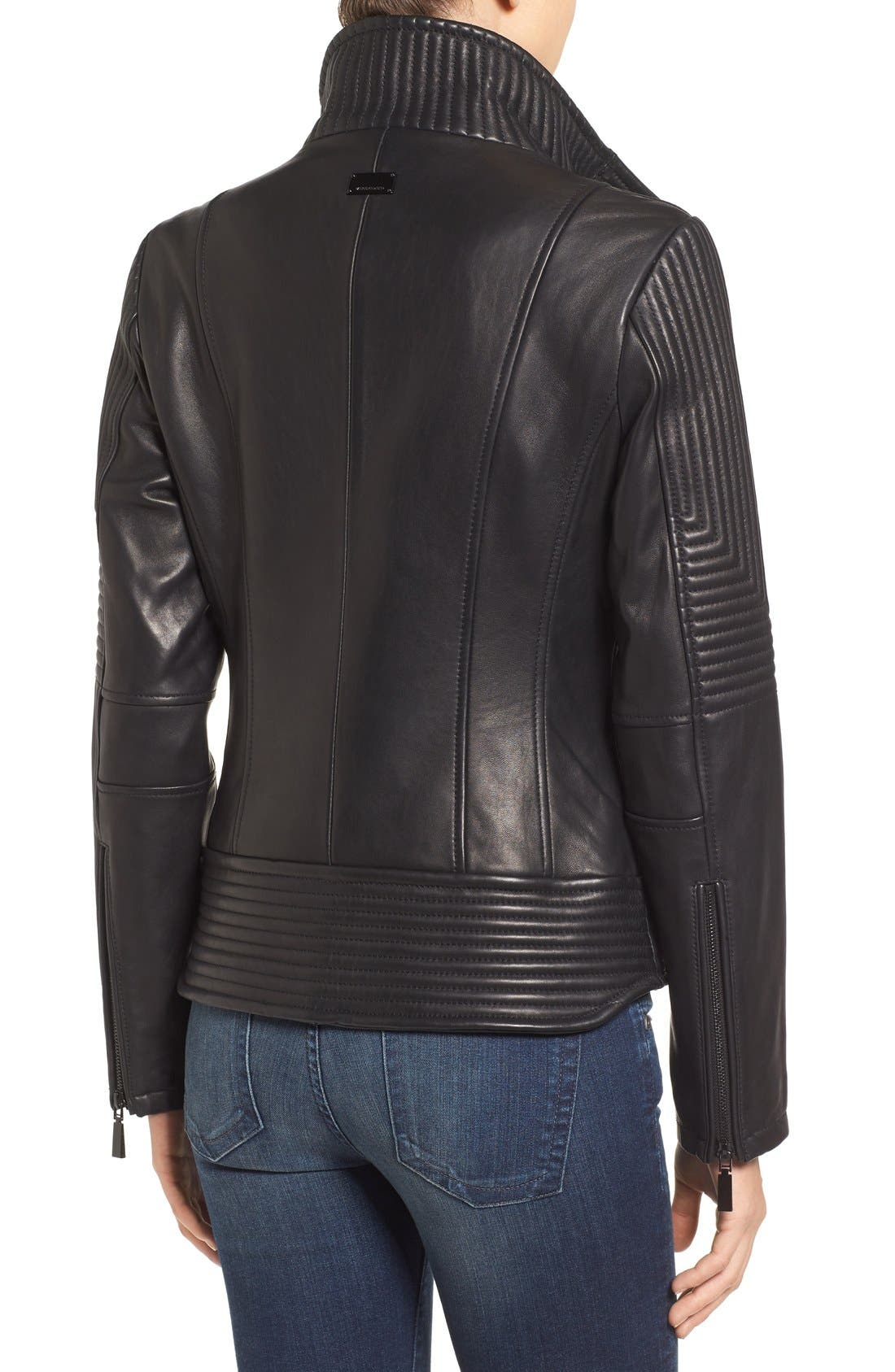 Alternate Image 2  - Vince Camuto Trapunto Leather Jacket
