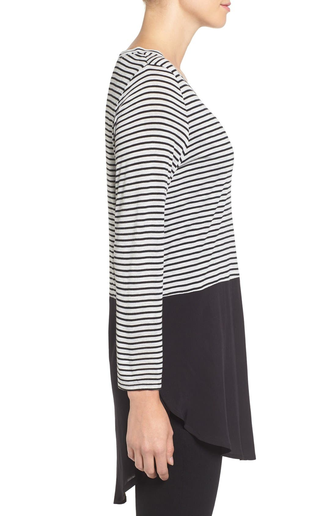 Alternate Image 3  - Two by Vince Camuto 'Anchor Stripe' Mixed Media Tunic