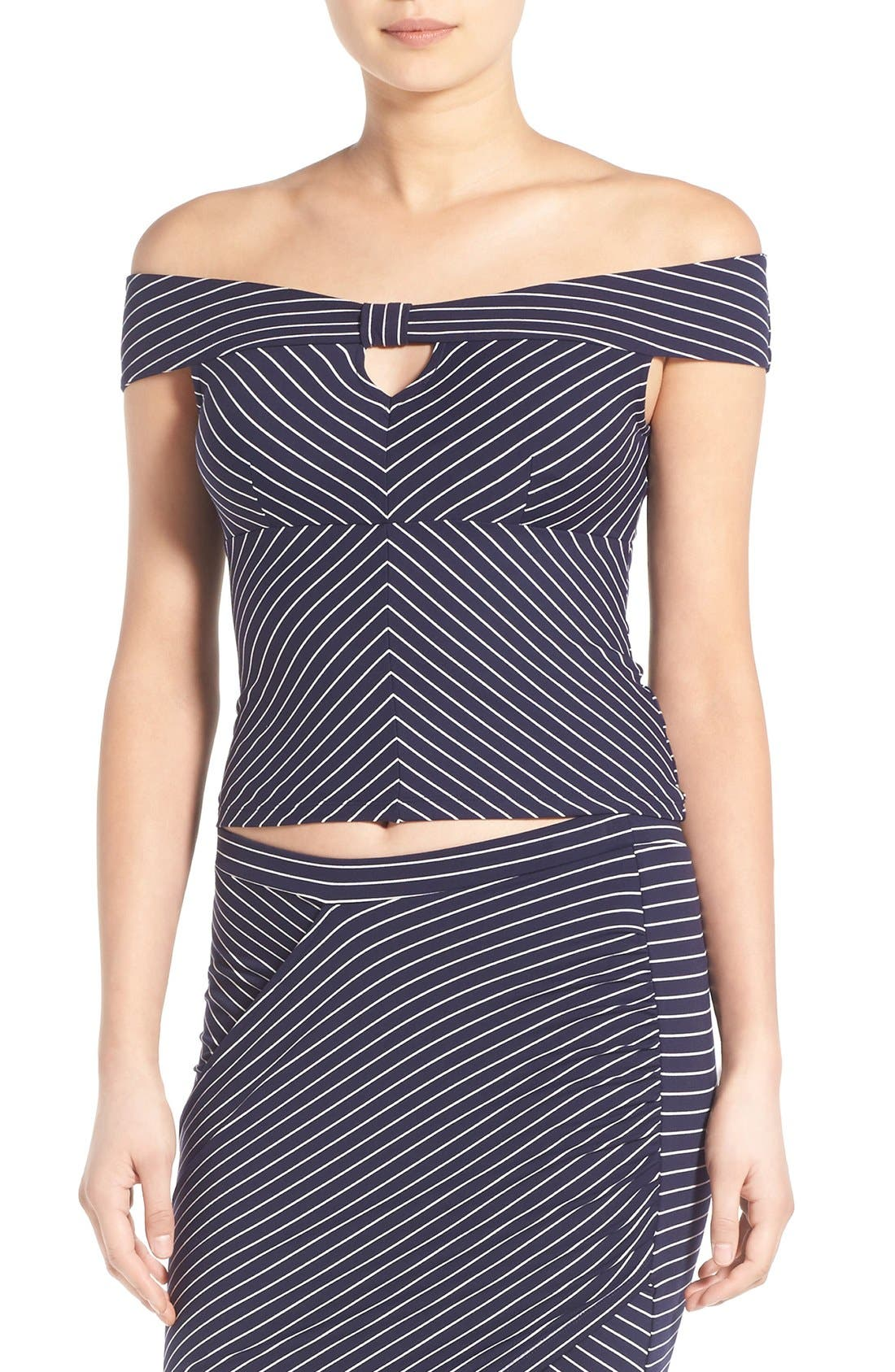 Alternate Image 1 Selected - Leith Stripe Off the Shoulder Top