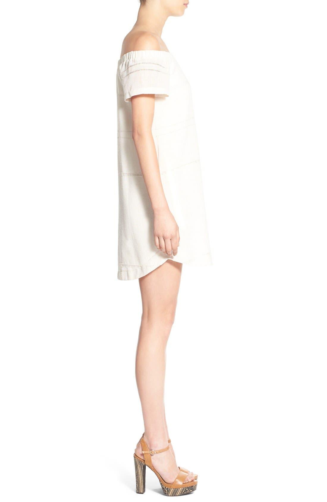Alternate Image 3  - ASTR Off the Shoulder Shift Dress
