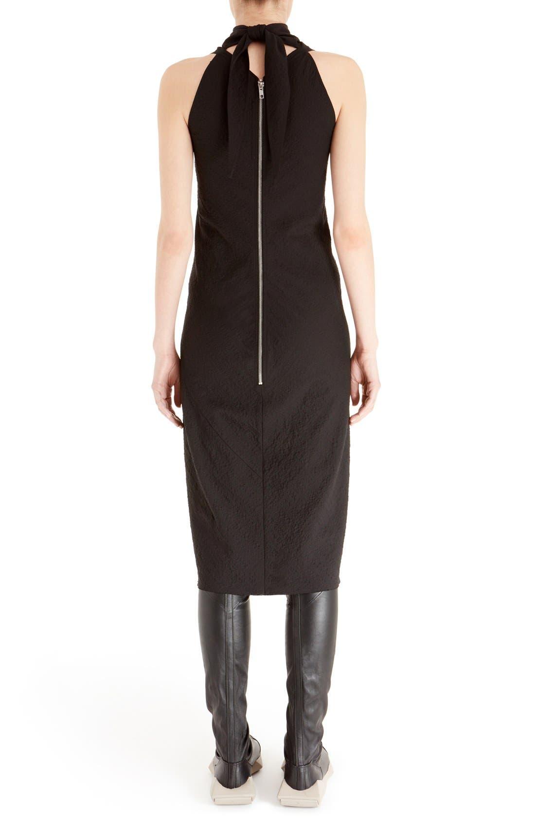 Alternate Image 2  - Rick Owens Sleeveless Jacquard Sheath Dress