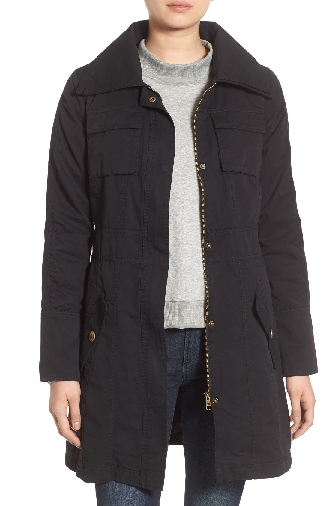 Alternate Image 1 Selected - Steve Madden Double Collar Army Jacket
