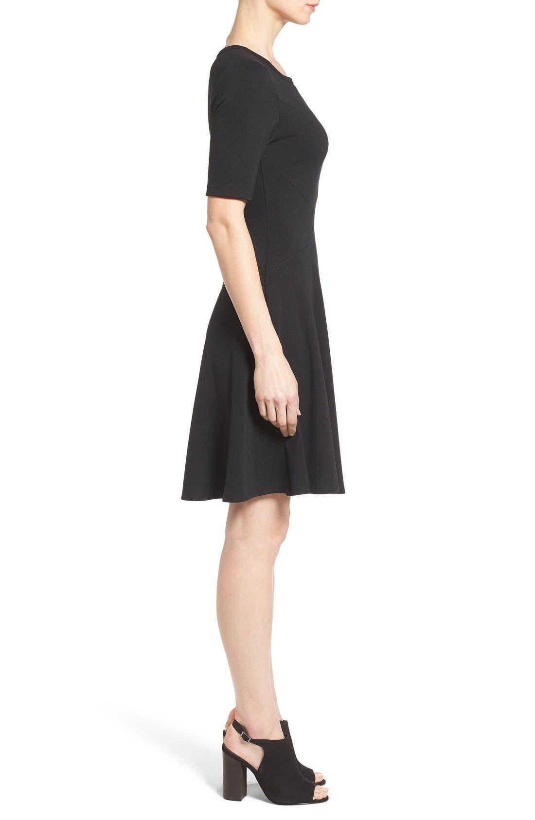 Alternate Image 3  - Karen Kane 'Michelle' Short Sleeve Fit & Flare Dress