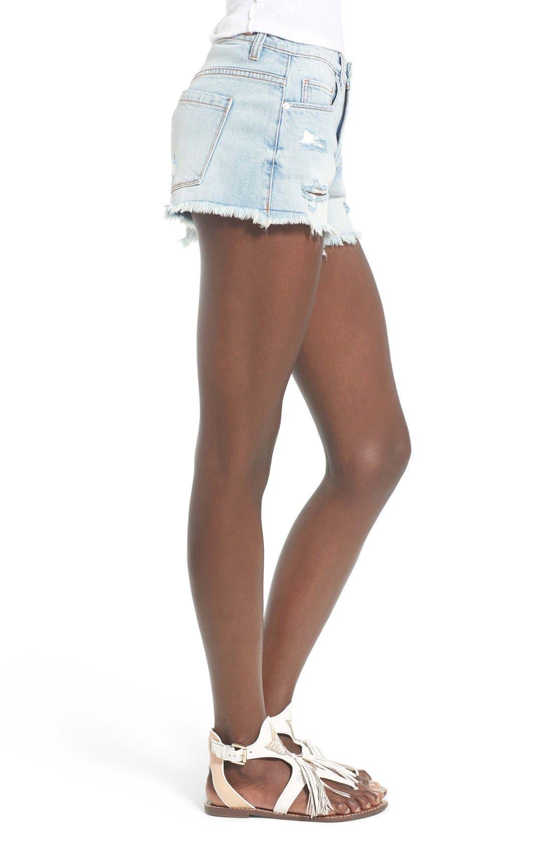 Alternate Image 3  - BLANKNYC Distressed Cutoff Denim Shorts (Secret Box)