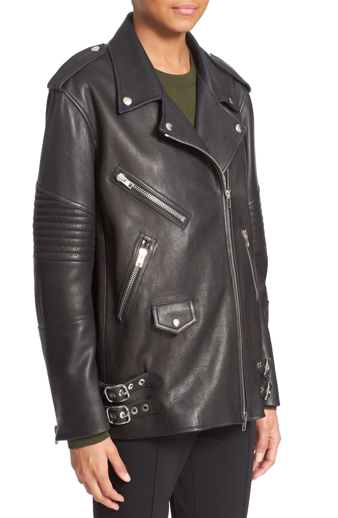 Alternate Image 4  - Alexander Wang Leather Moto Jacket
