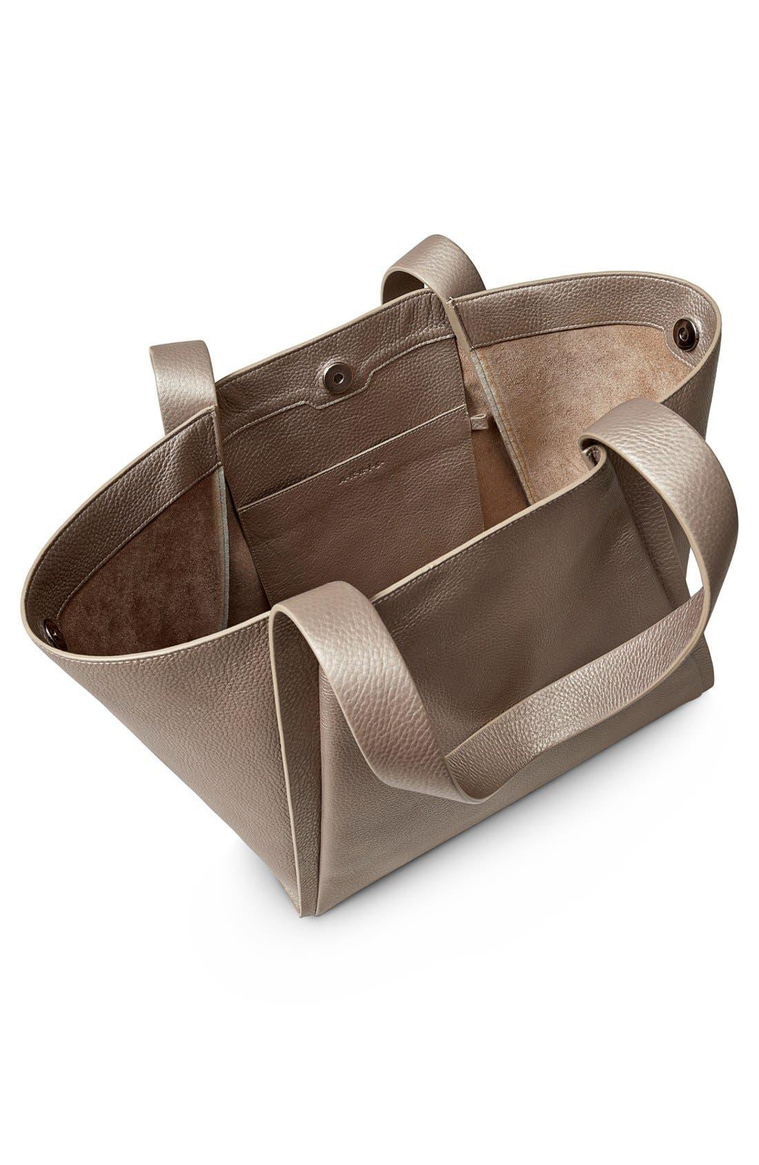 Alternate Image 3  - Akris 'Medium Alex' Metallic Leather Shopper