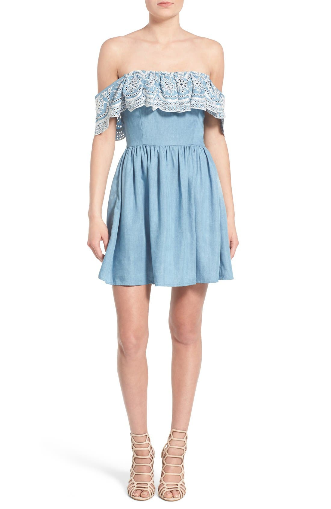 Alternate Image 2  - Lovers + Friends 'Dream Vacay' Off the Shoulder Fit & Flare Dress