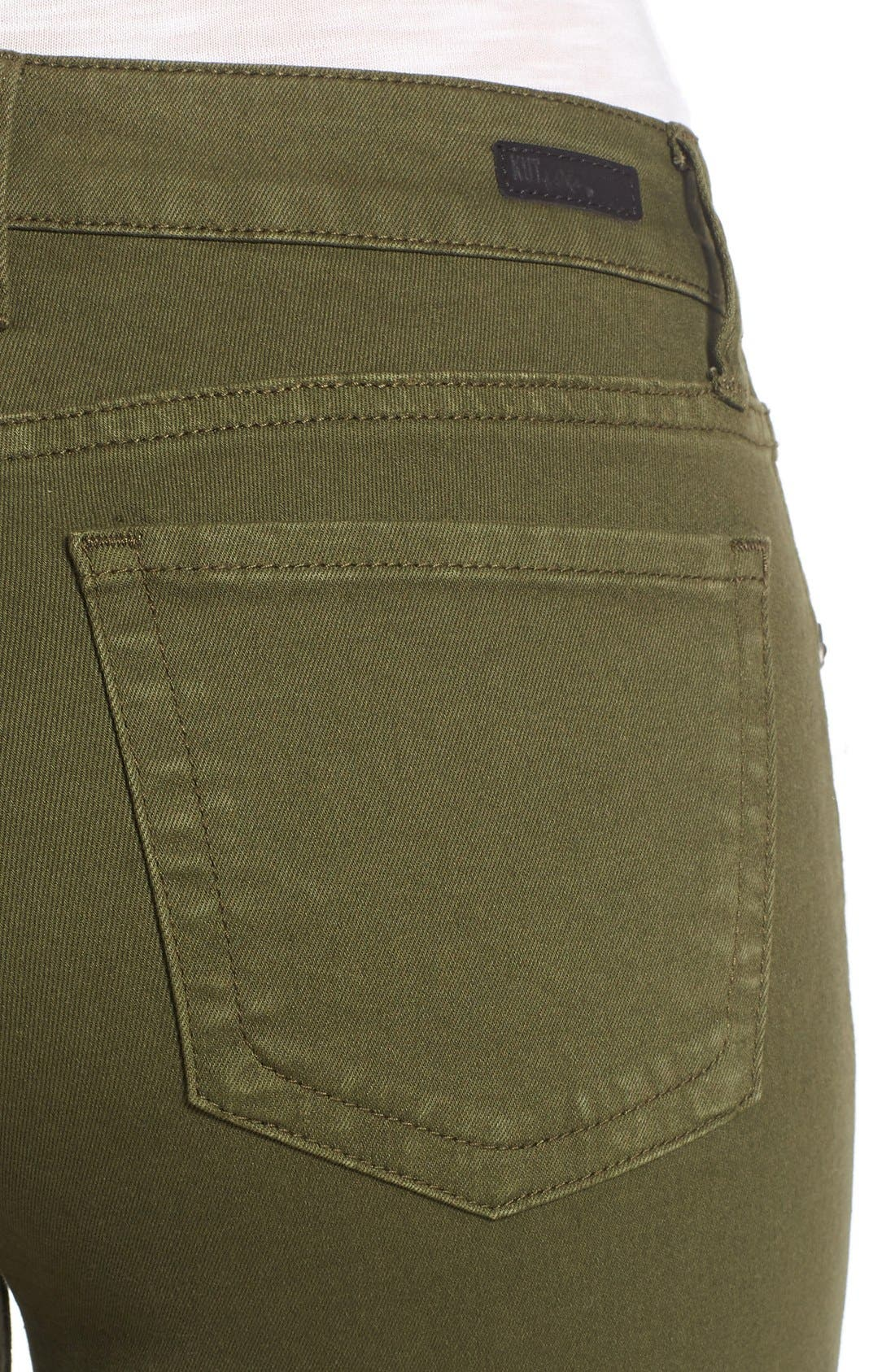 Alternate Image 4  - KUT from the Kloth Diana Colored Denim Skinny Jeans