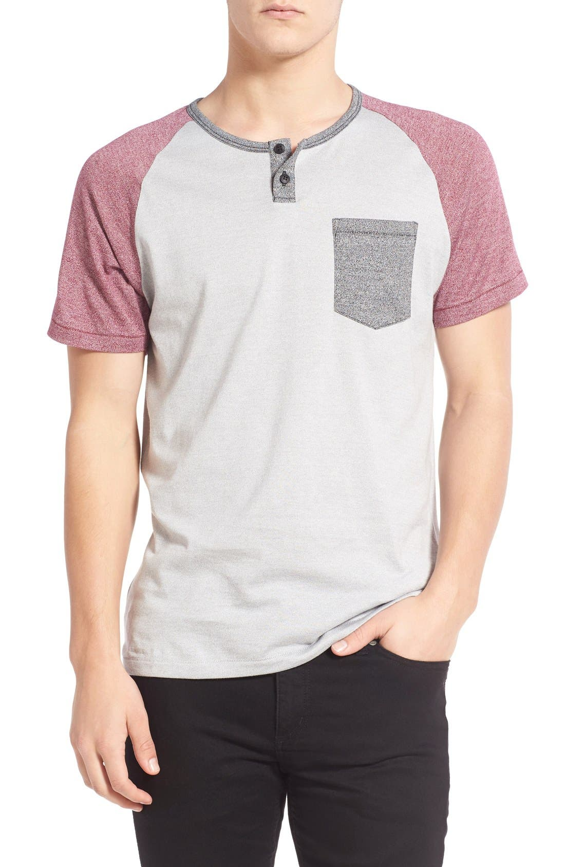 Imperial Motion 'Lefty' Short Sleeve Colorblock Henley