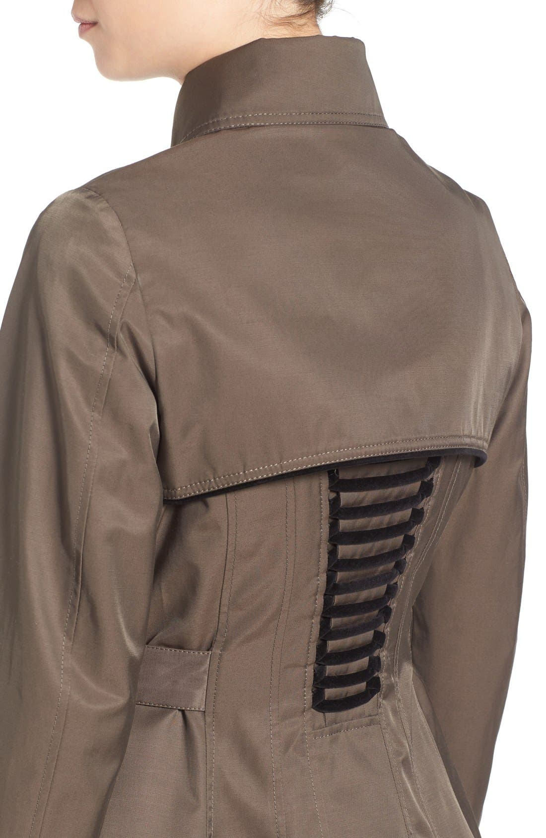 Alternate Image 4  - Betsey Johnson Corset Back Trench Coat
