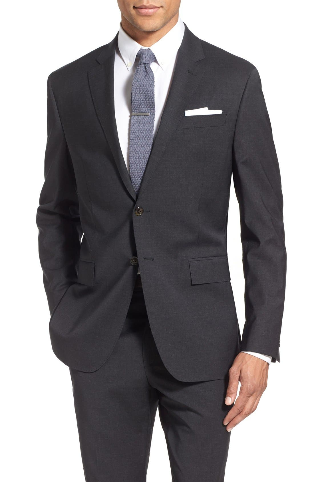 Alternate Image 5  - Todd Snyder White Label 'May Fair' Trim Fit Solid Stretch Wool Suit
