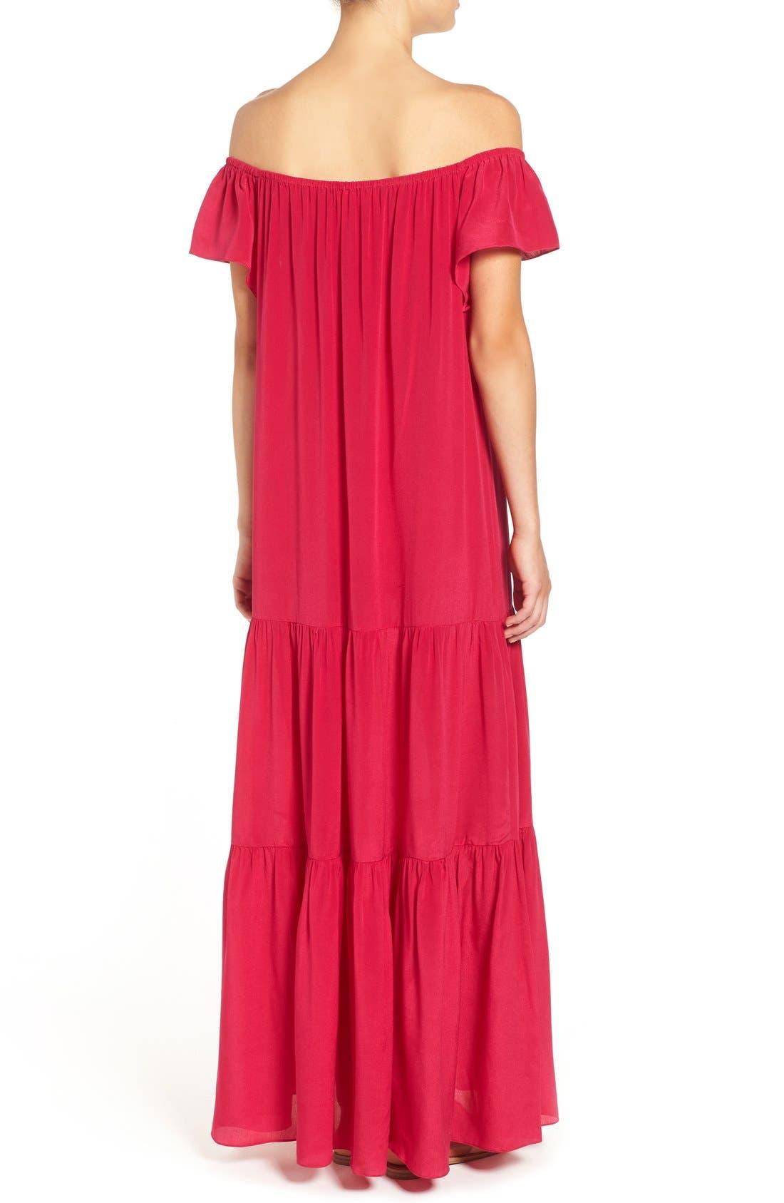 Alternate Image 3  - Soler 'Thalia' Off the Shoulder Silk Maxi Dress