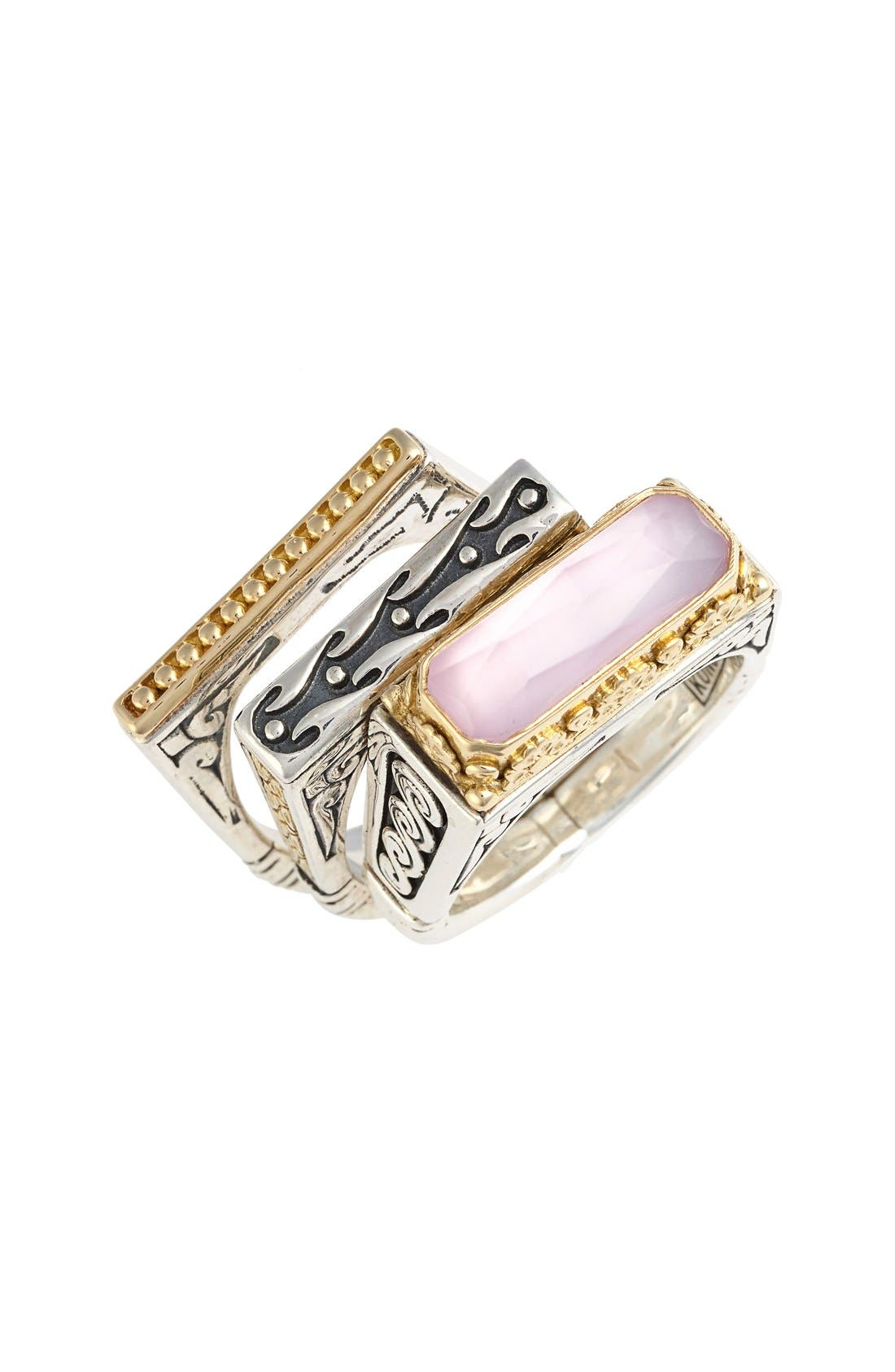 KONSTANTINO 'Iliada' Stacking Doublet Rings
