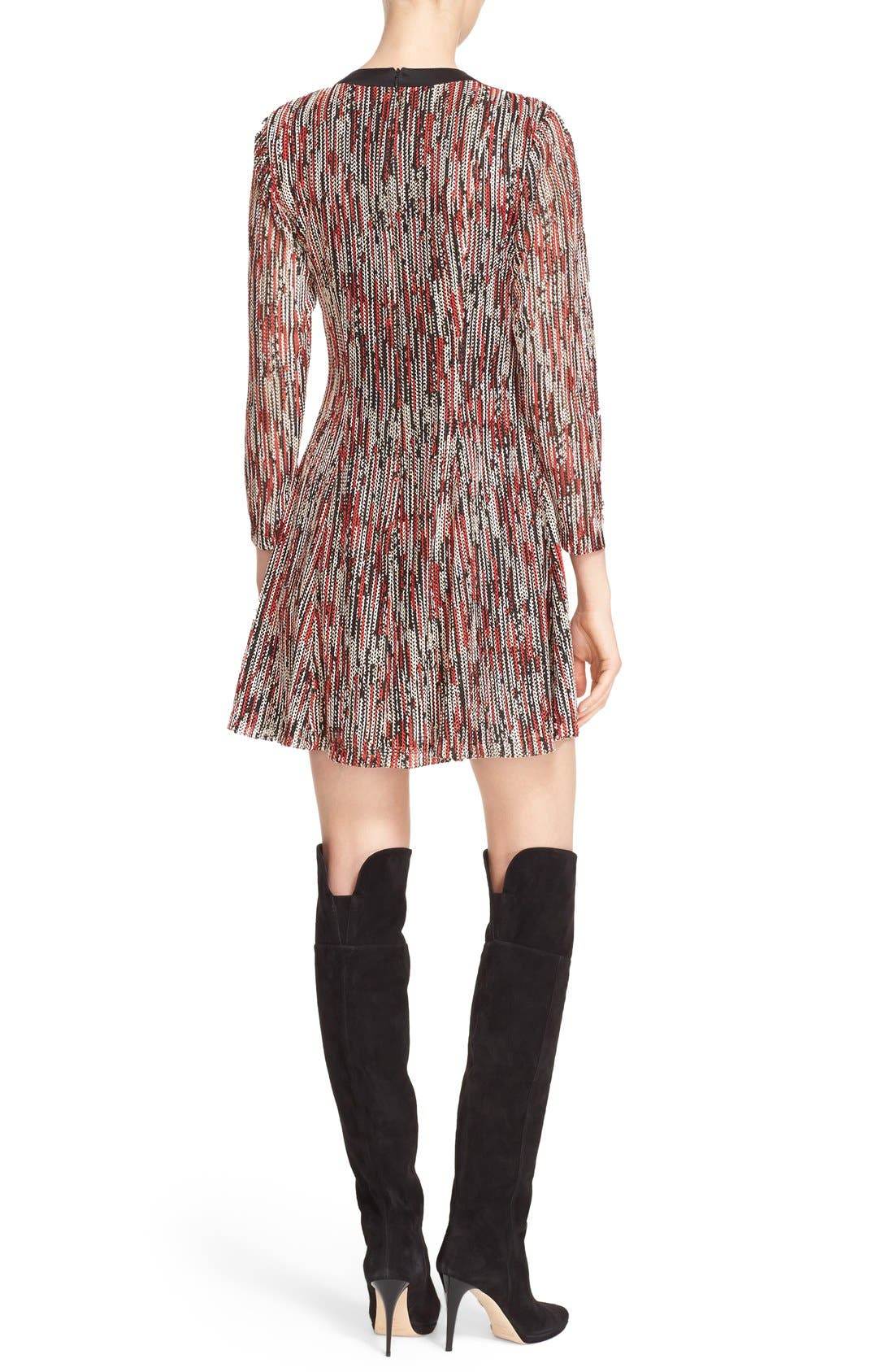 Alternate Image 2  - Alice + Olivia 'Gwyneth' Print Tie Neck Fit & Flare Dress