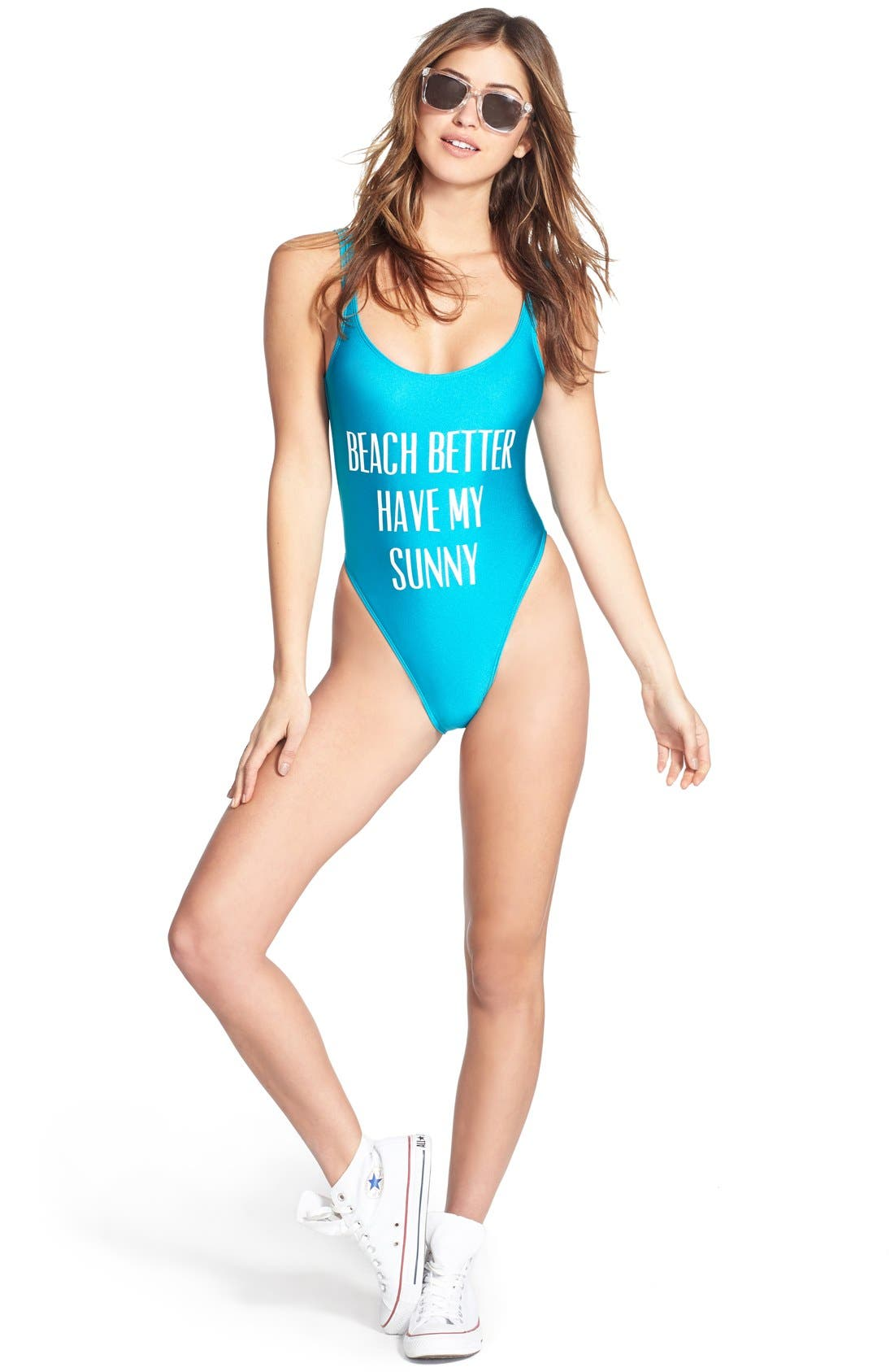 Alternate Image 6  - Private Party 'Beach Better Have My Sunny' One-Piece Swimsuit
