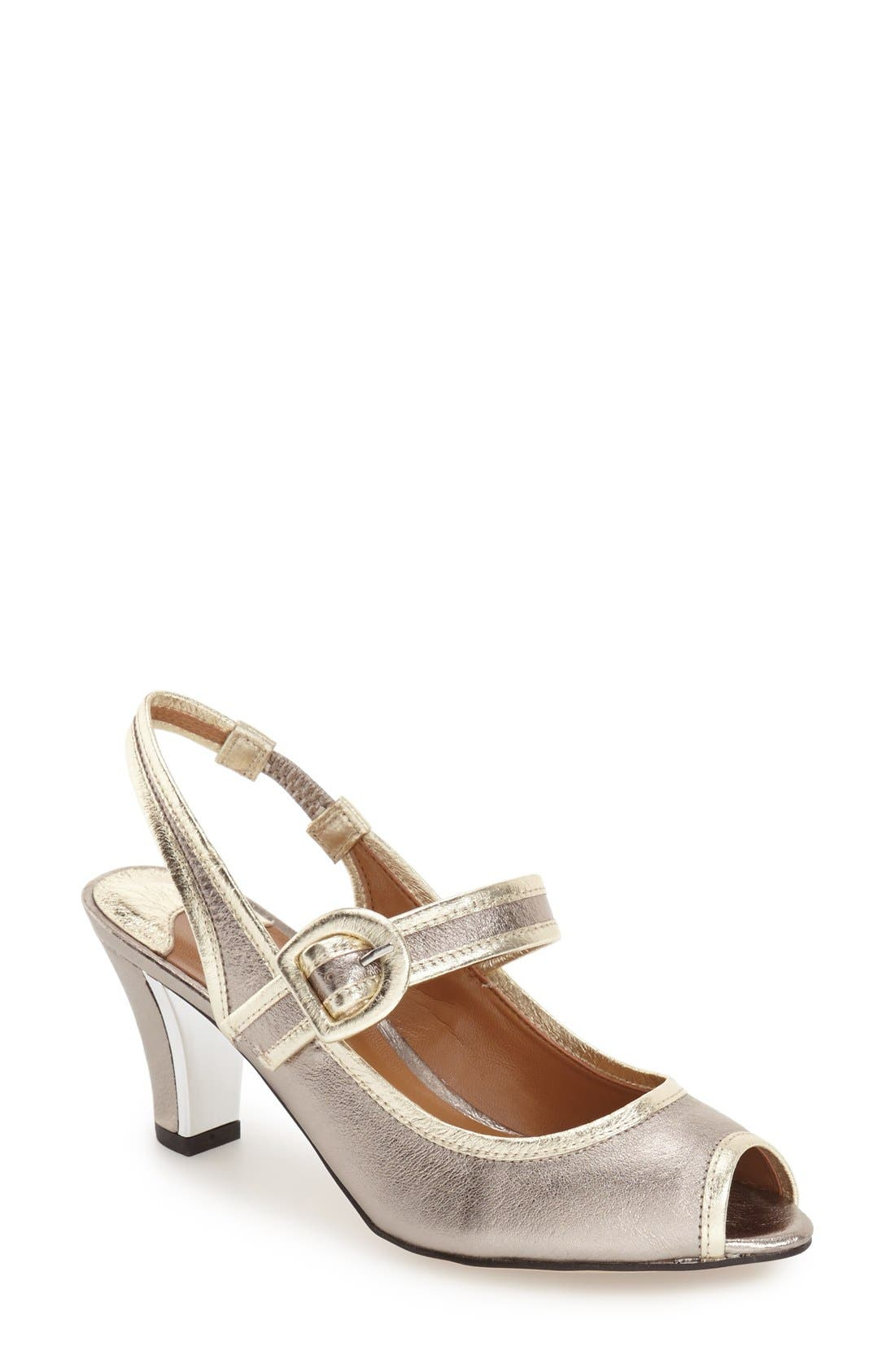 J. RENEÉ 'Nevern' Slingback Peep Toe Pump