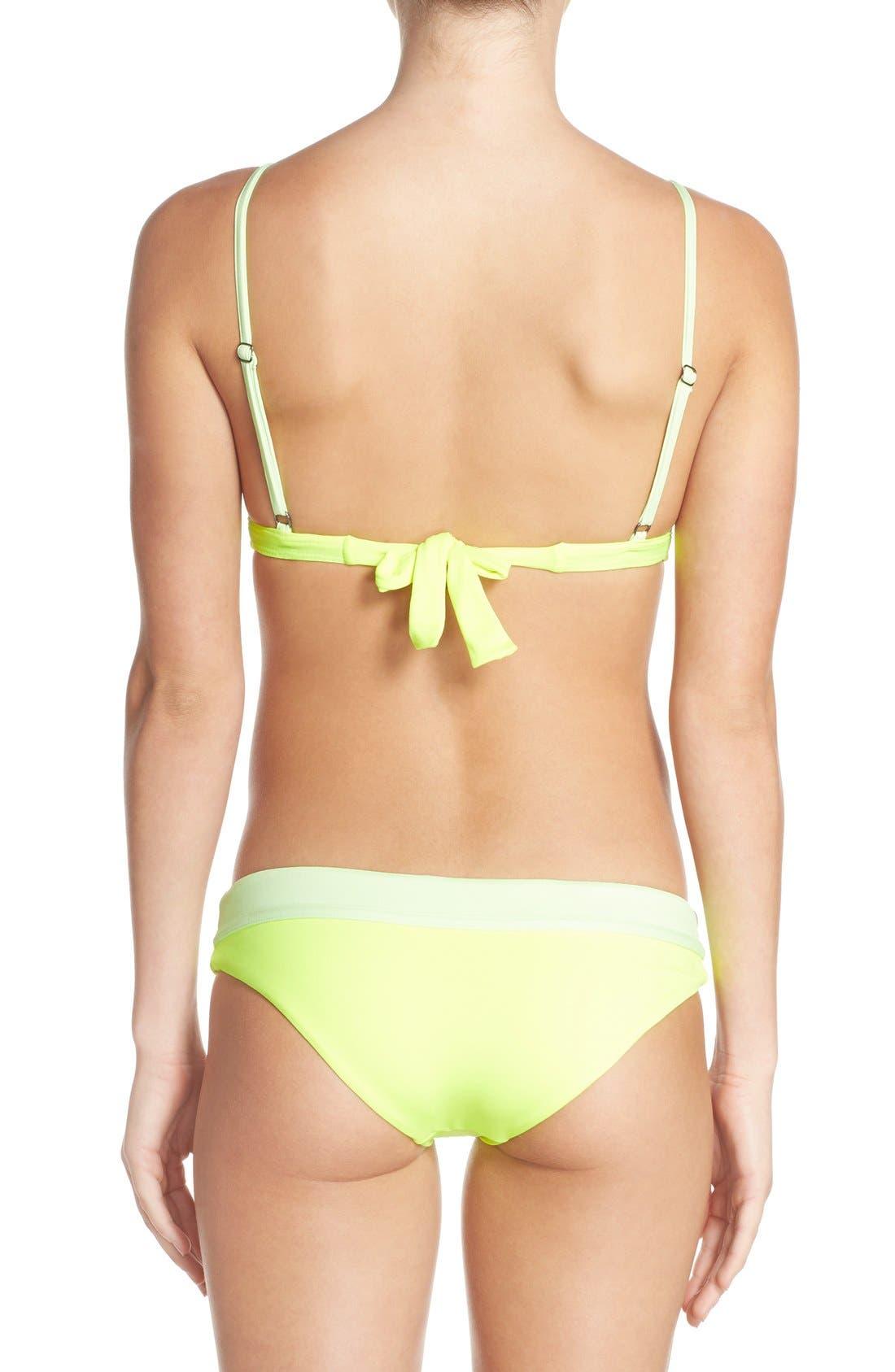 Alternate Image 7  - Maaji 'Lime Collage' Reversible Triangle Bikini Top