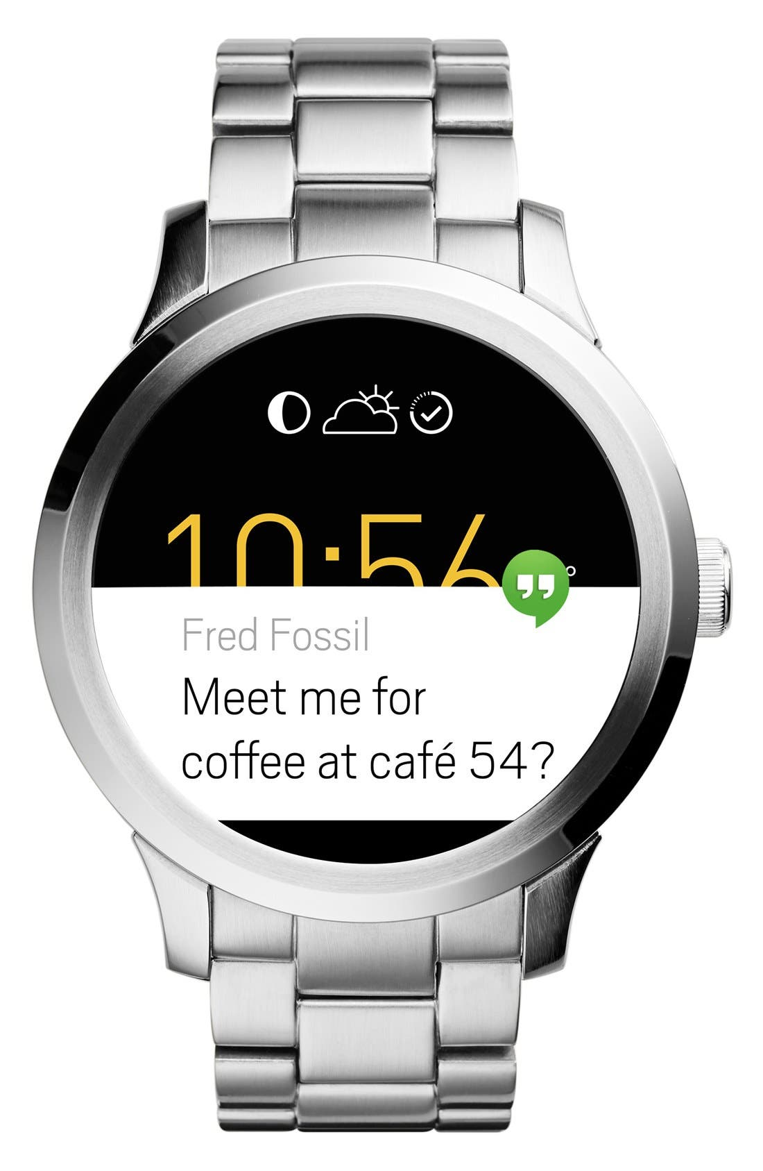 Alternate Image 3  - Fossil 'Fossil Q - Founder' Round Bracelet Smart Watch, 47mm
