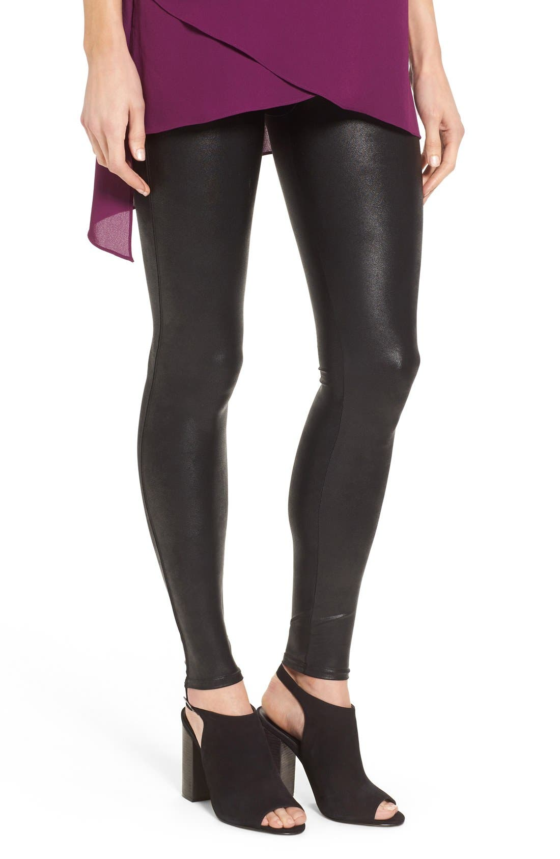 Main Image - SPANX® Faux Leather Leggings