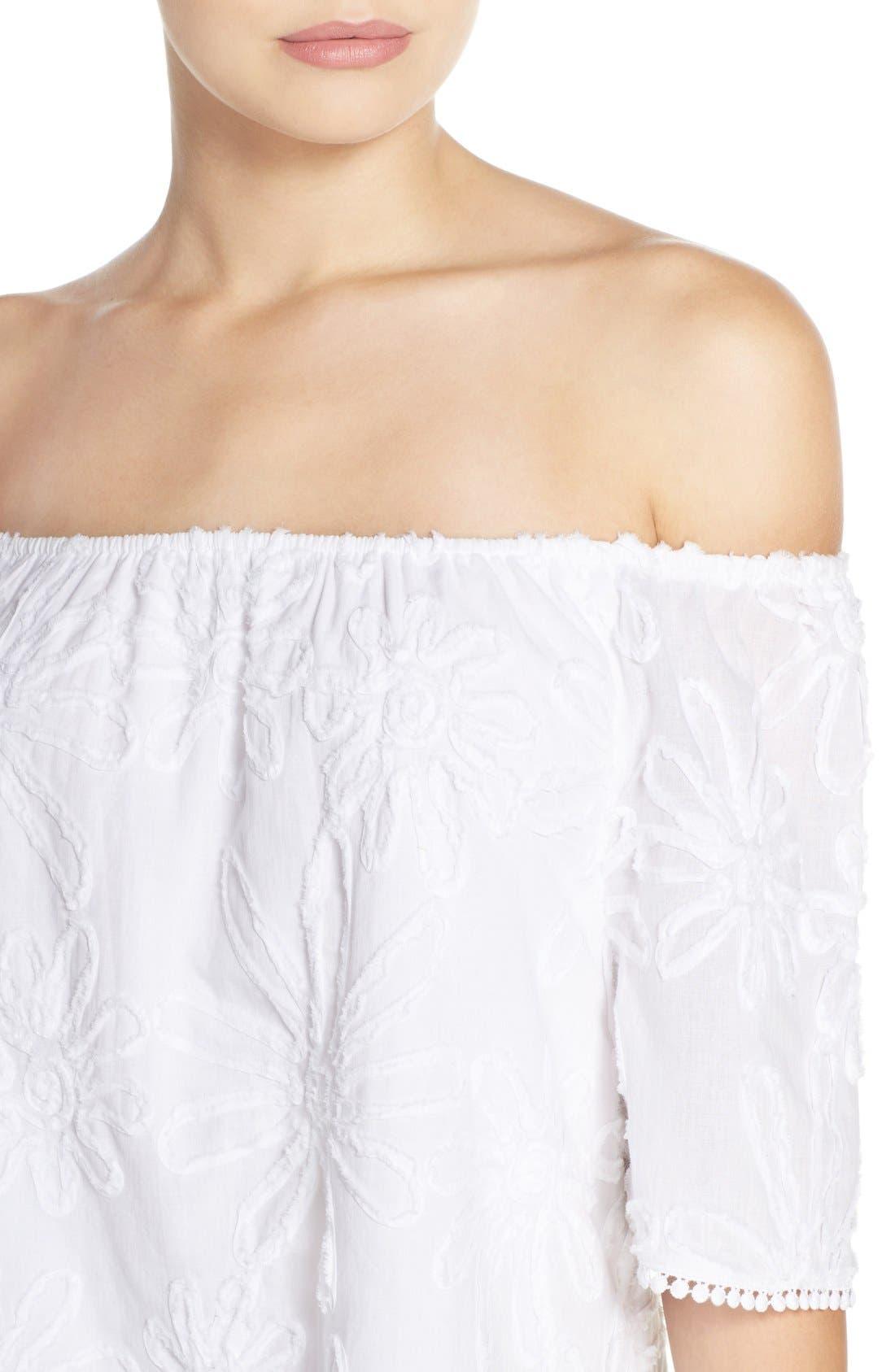 Alternate Image 4  - BB Dakota 'Marnie' Off the Shoulder Gauze Shift Dress