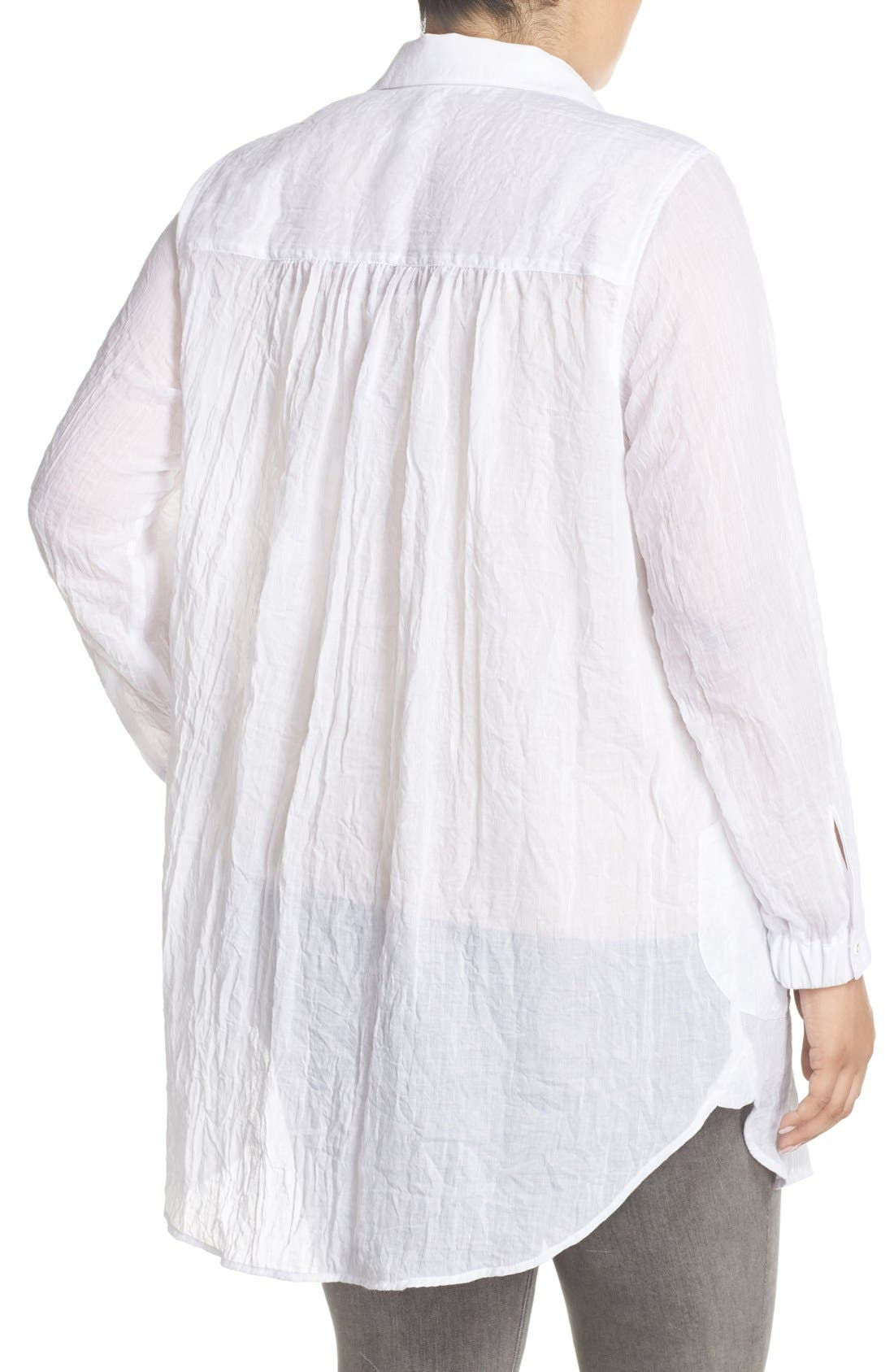 Alternate Image 2  - Melissa McCarthy Seven7 Patch Pocket Tunic Shirt (Plus Size)