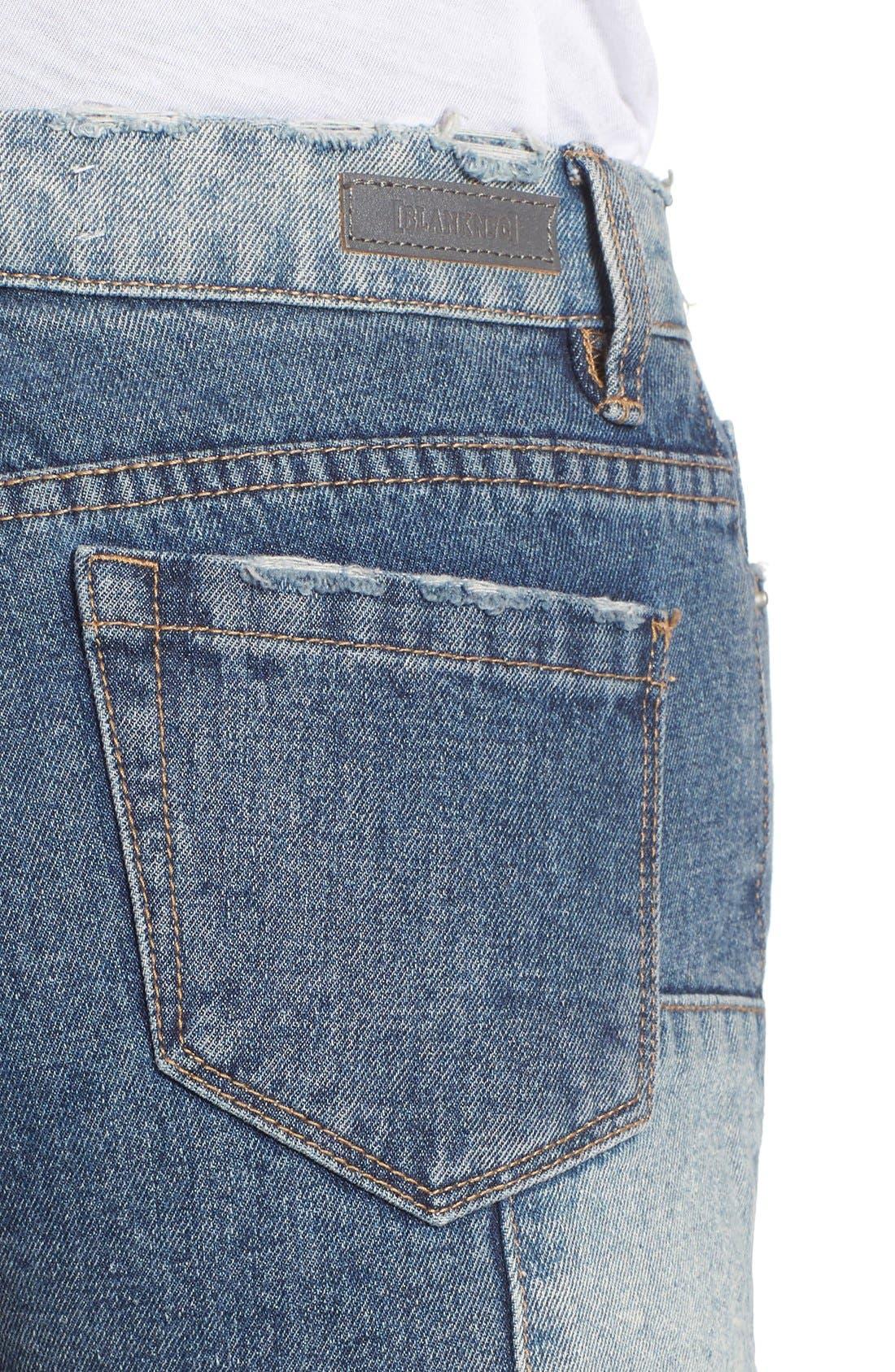 Alternate Image 4  - BLANKNYC Distressed Cutoff Denim Shorts (Rough Patch)