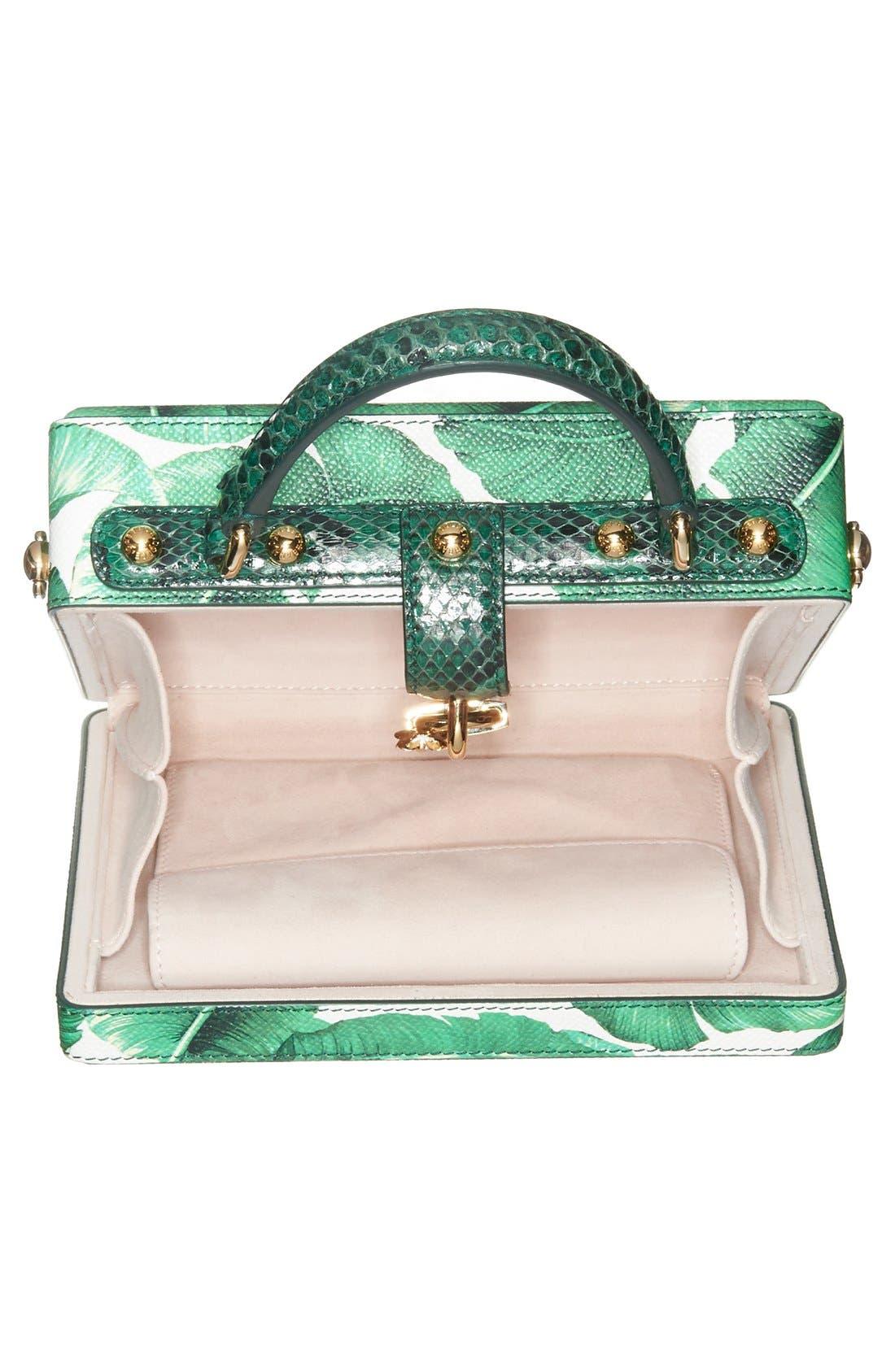 Alternate Image 4  - Dolce&Gabbana 'Banana Leaf' Embellished Leather & Snakeskin Box Bag