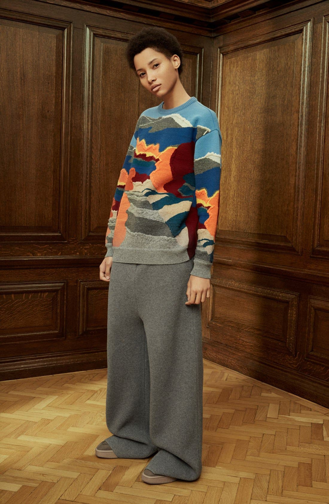 Alternate Image 7  - Stella McCartney 'Landscape' Intarsia Knit Wool Sweater