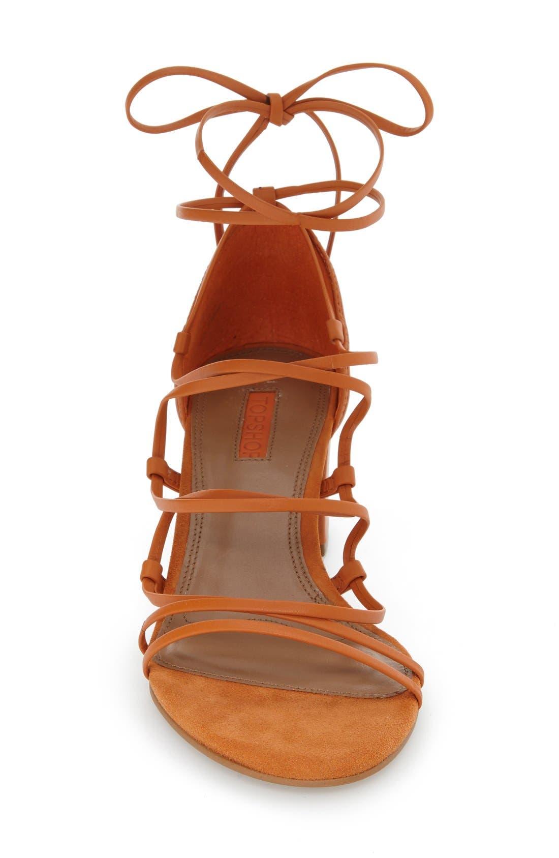 Alternate Image 3  - Topshop Strappy Block Heel Sandal (Women)
