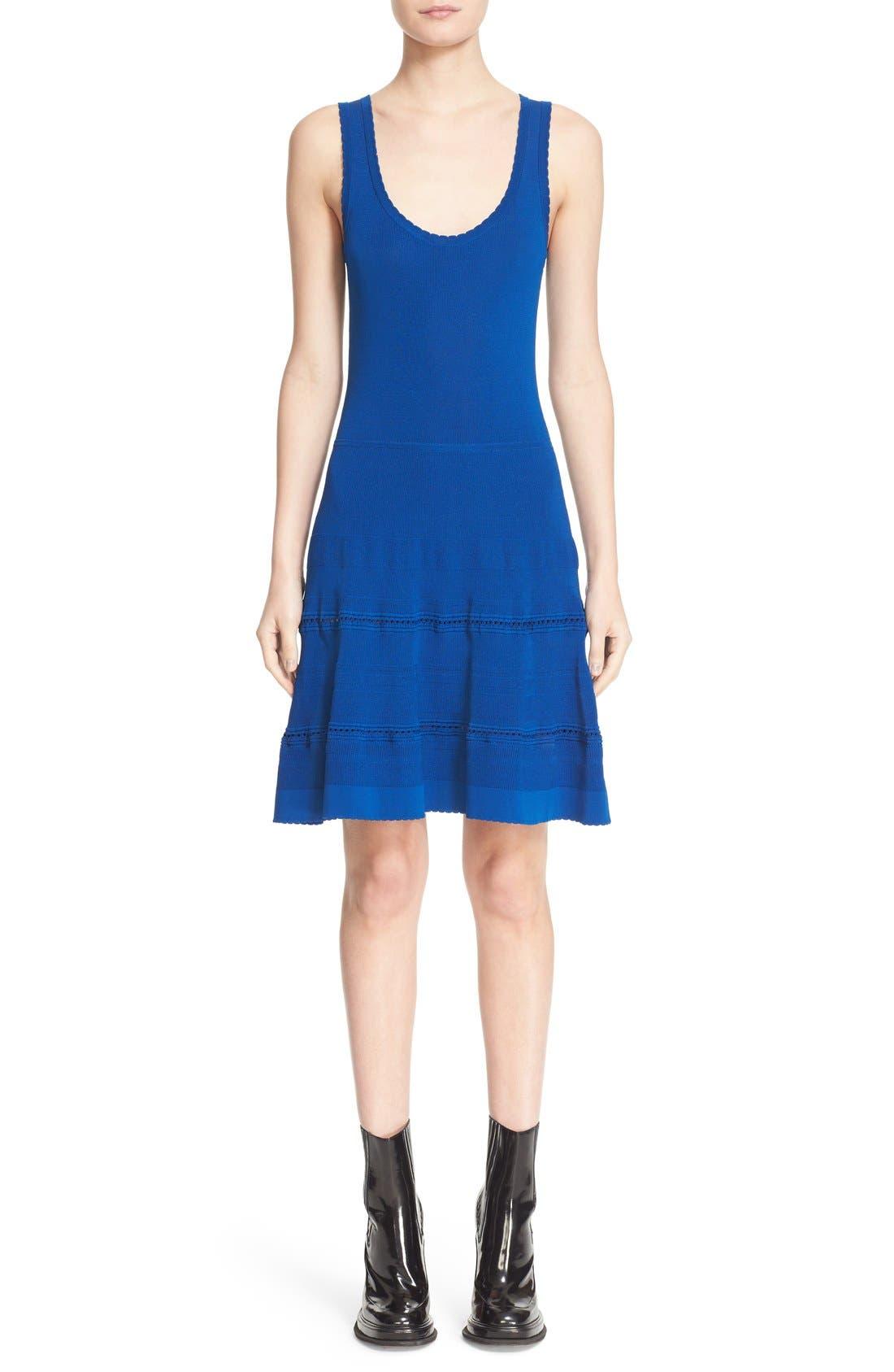 Alternate Image 1 Selected - Carven Stretch Knit Fit & Flare Dress