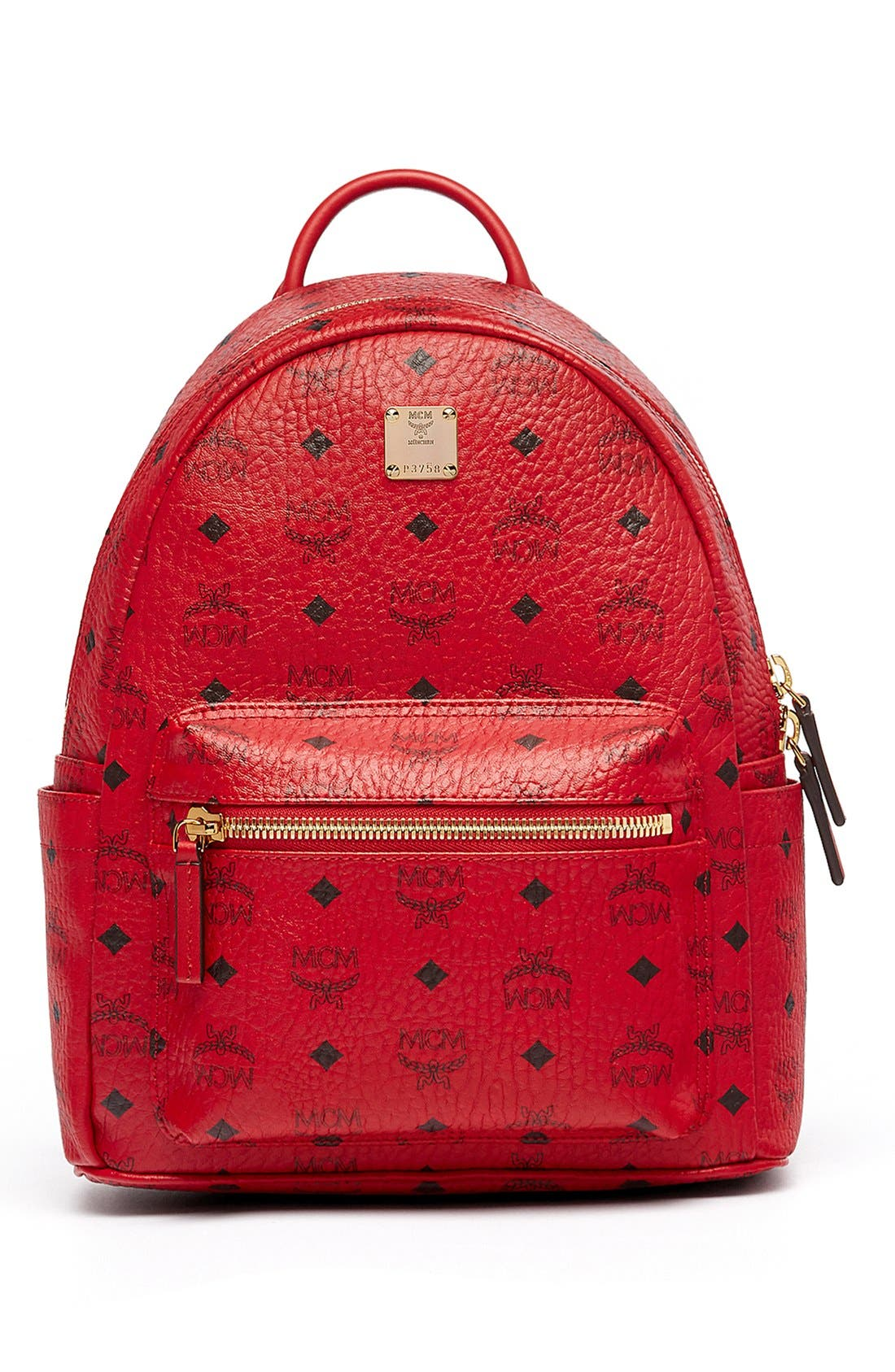 Alternate Image 1 Selected - MCM 'Small Stark' Coated Canvas Backpack