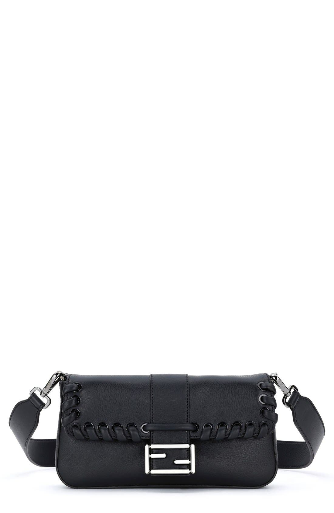 Fendi 'Dolce' Calfskin Leather Baguette