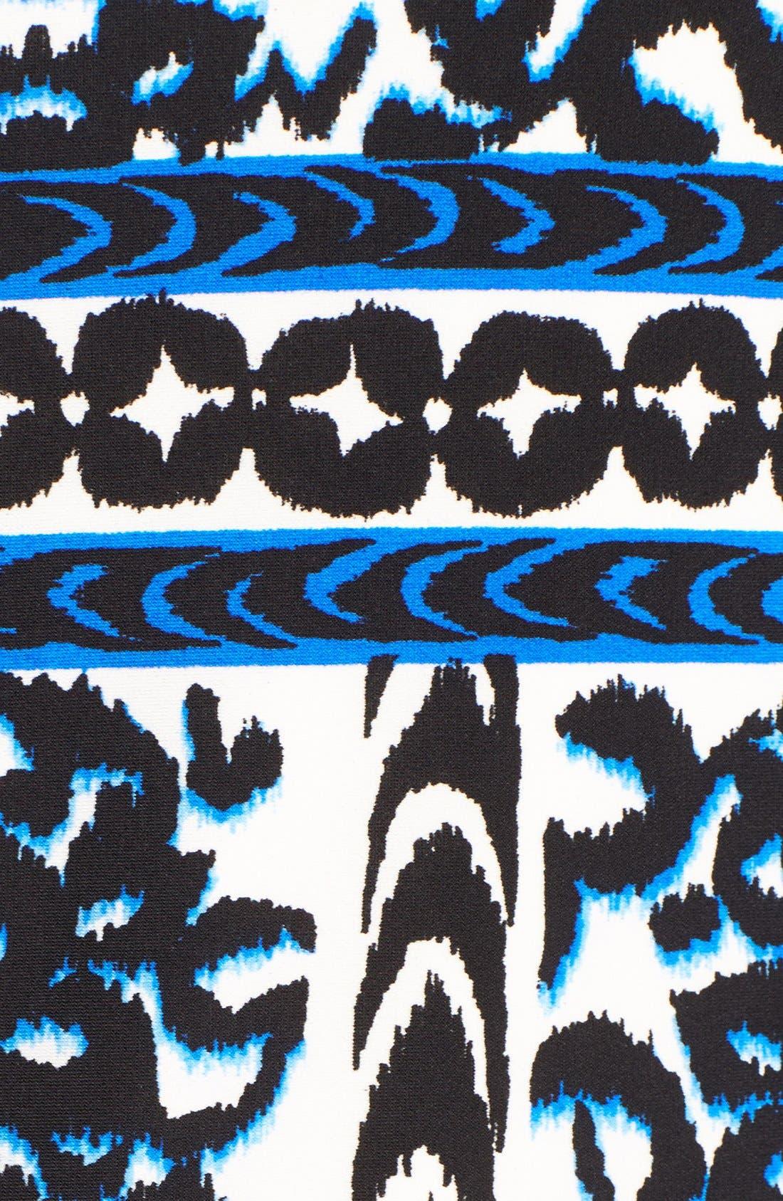 Alternate Image 5  - Eliza J Border Print Elbow Sleeve Shift Dress (Plus Size)