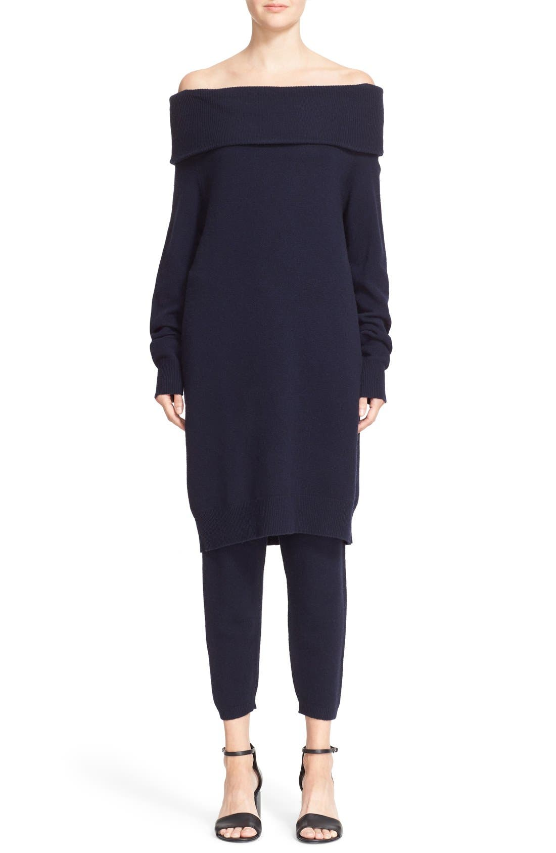 Alternate Image 1 Selected - T by Alexander Wang Wool & Cashmere Off the Shoulder Sweater