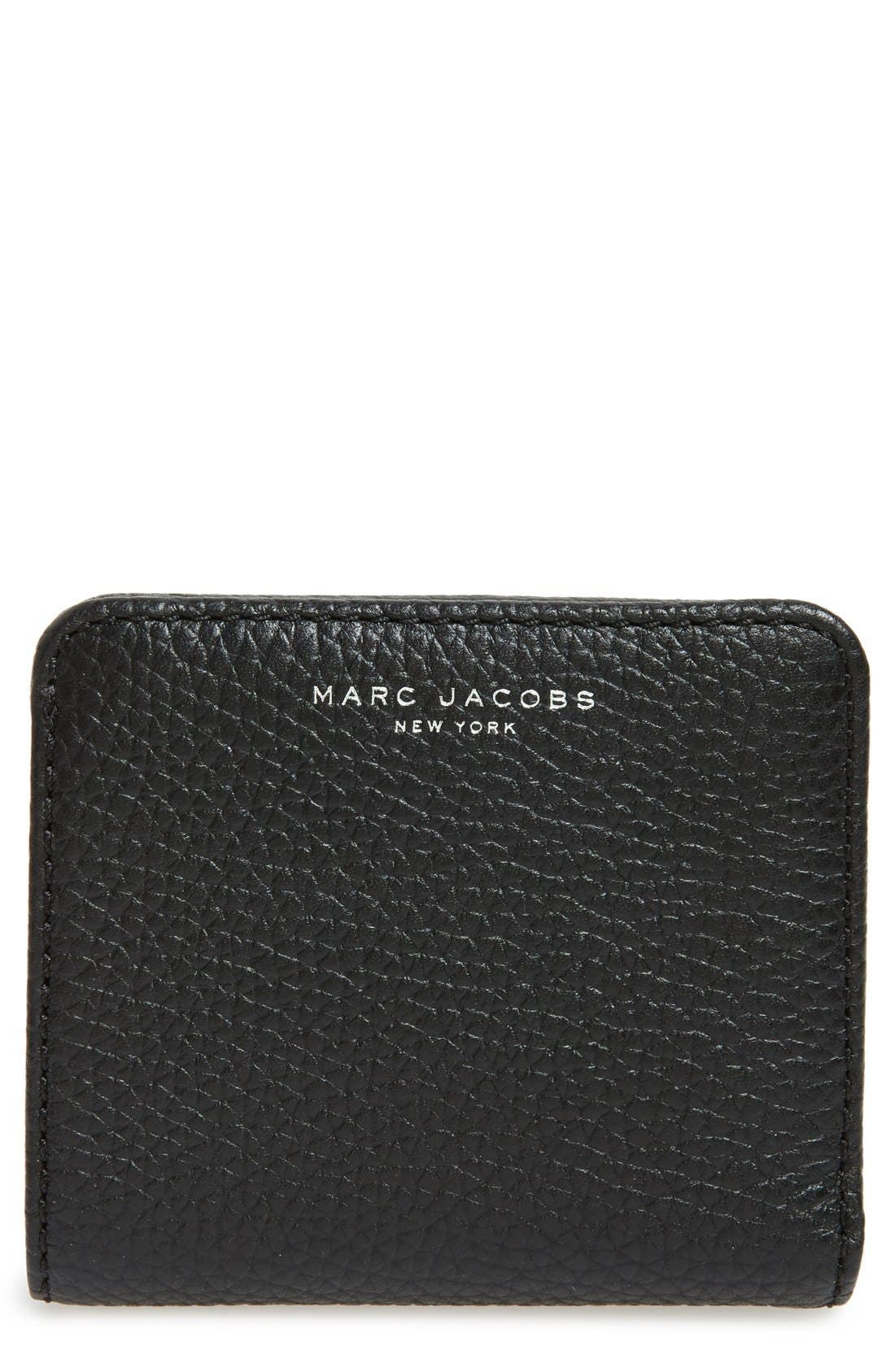 MARC JACOBS 'Gotham' Pebbled Leather Wallet
