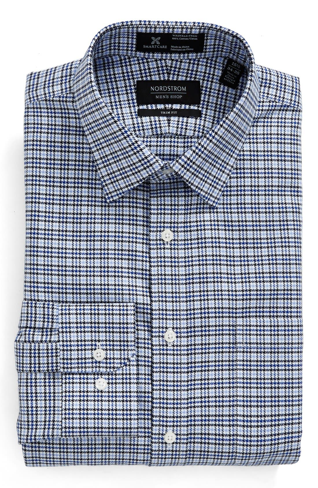 NORDSTROM MEN'S SHOP Smartcare™ Trim Fit Houndstooth Dress