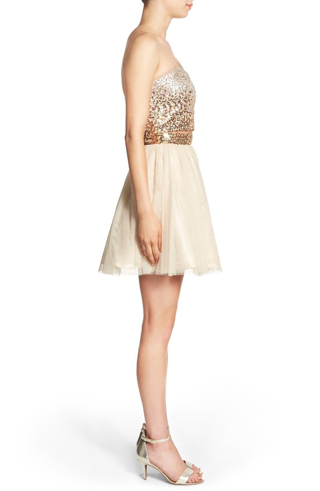 Alternate Image 3  - Steppin Out Embellished Two-Piece Skater Dress