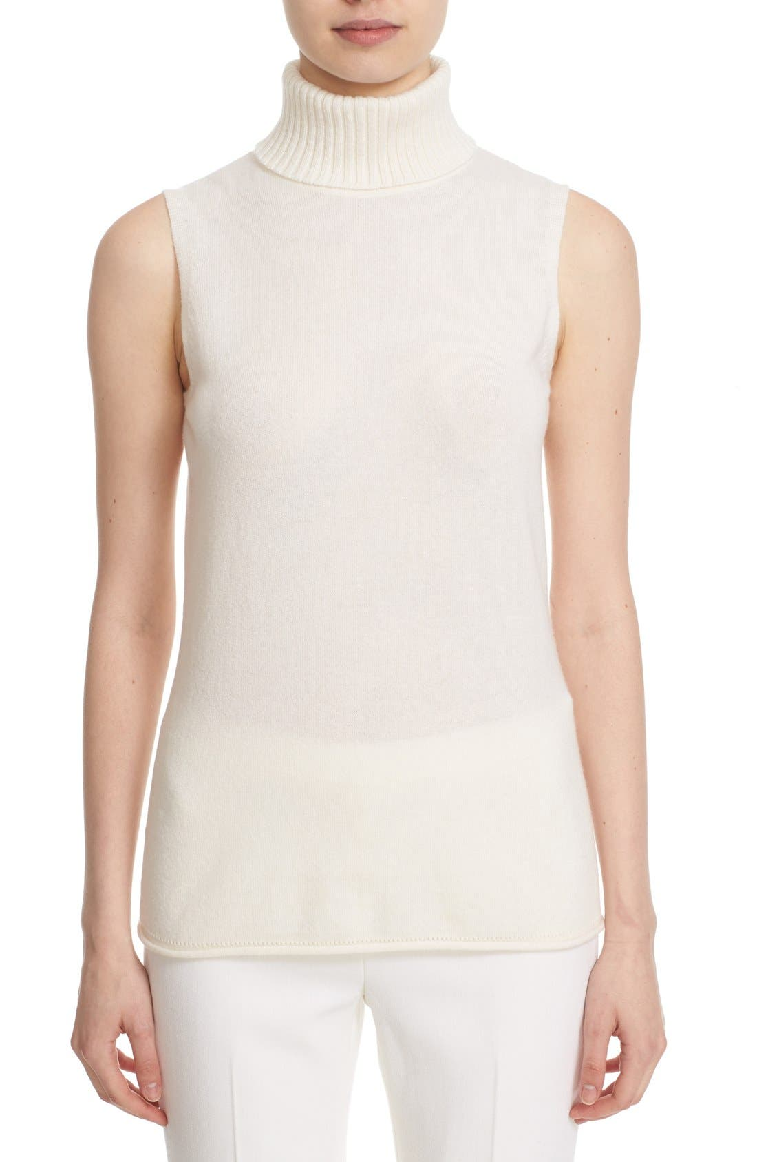 Main Image - Lafayette 148 New York Turtleneck Cashmere Shell