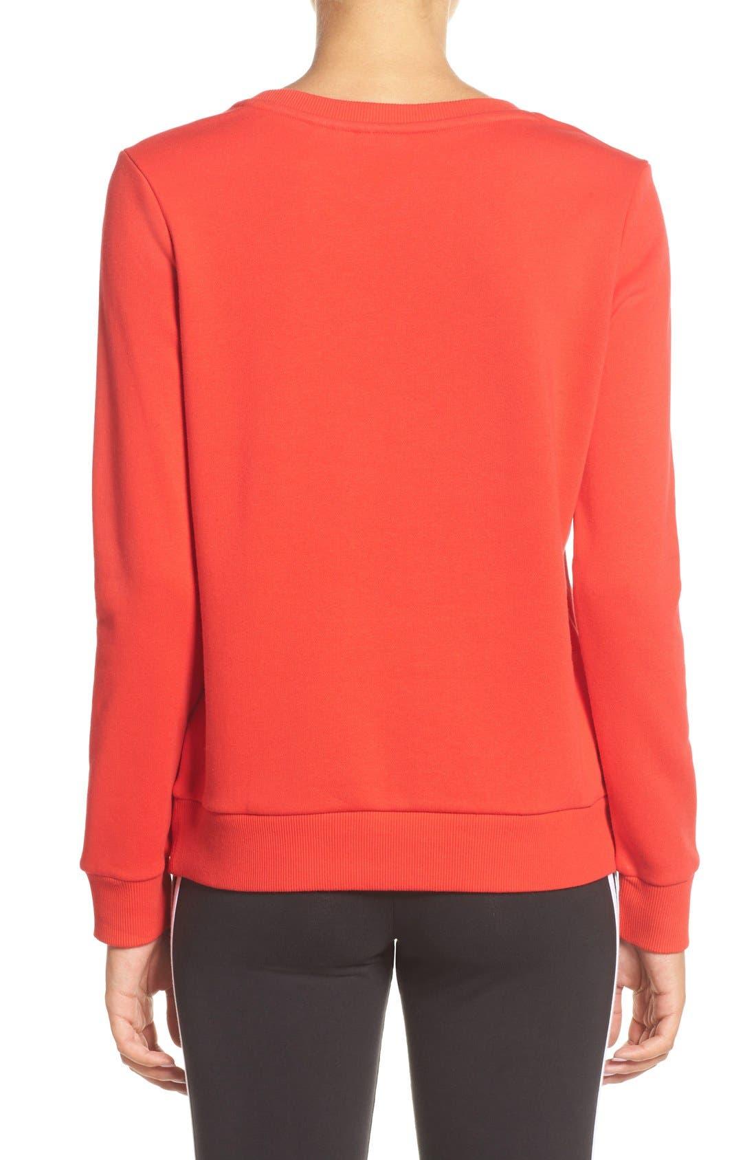 Alternate Image 2  - adidas Logo Crewneck Sweater