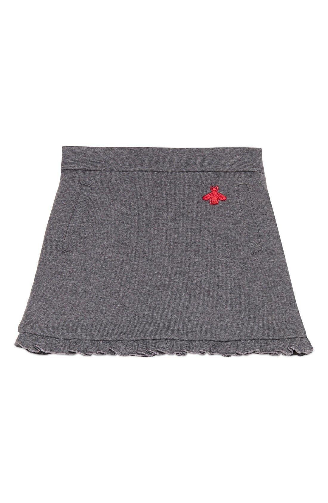 GUCCI Ruffle Jersey Skirt