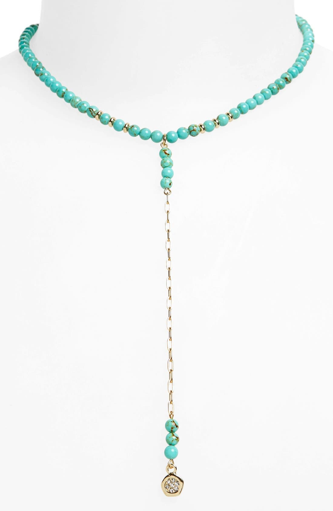 Main Image - Ettika Beaded Pendant Chain Choker