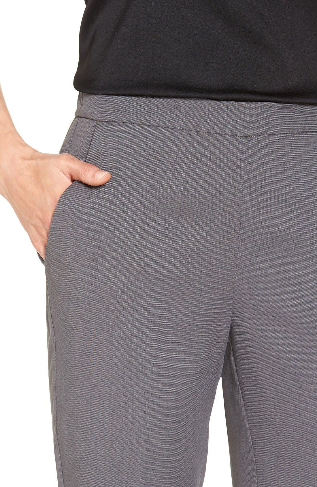 Alternate Image 4  - Eileen Fisher Woven Slim Leg Ankle Pants (Regular & Petite)