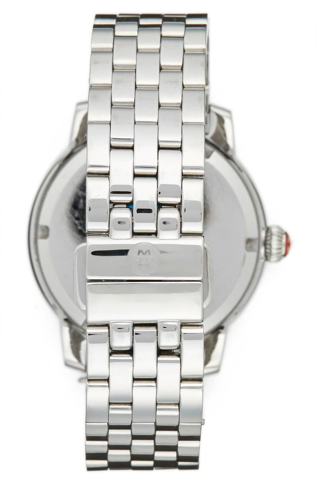 Alternate Image 2  - MICHELE 'Harbor Diamond' Watch with Bracelet, 35mm