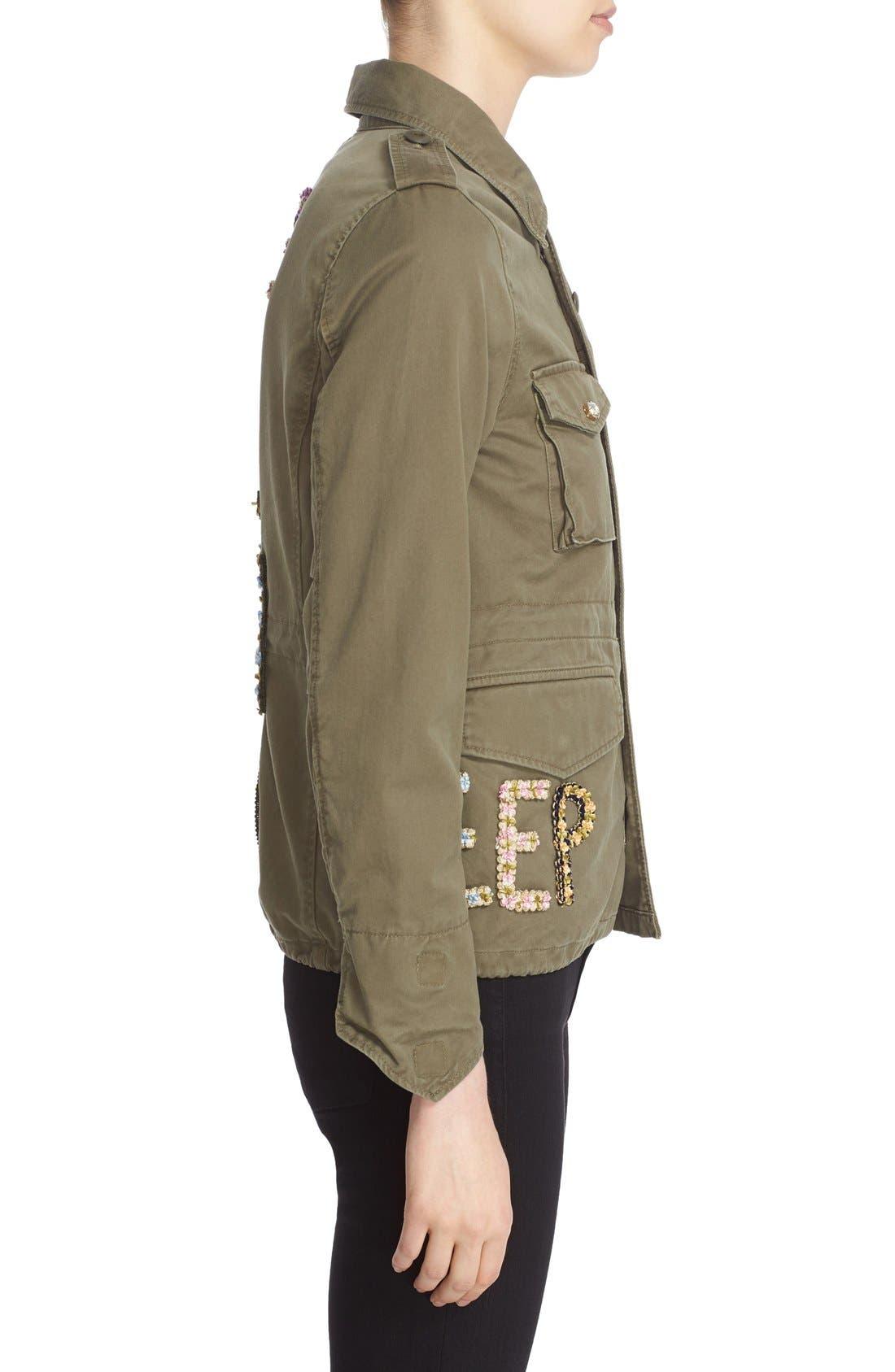 Alternate Image 5  - Tu es mon TRÉSOR 'The End' Embellished Military Jacket