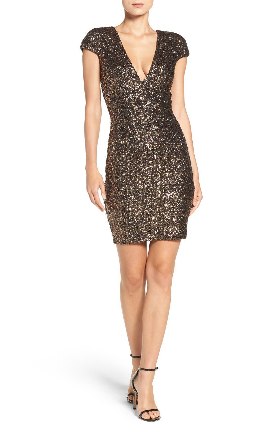Alternate Image 6  - Dress the Population Zoe Sequin Minidress (Nordstrom Exclusive)