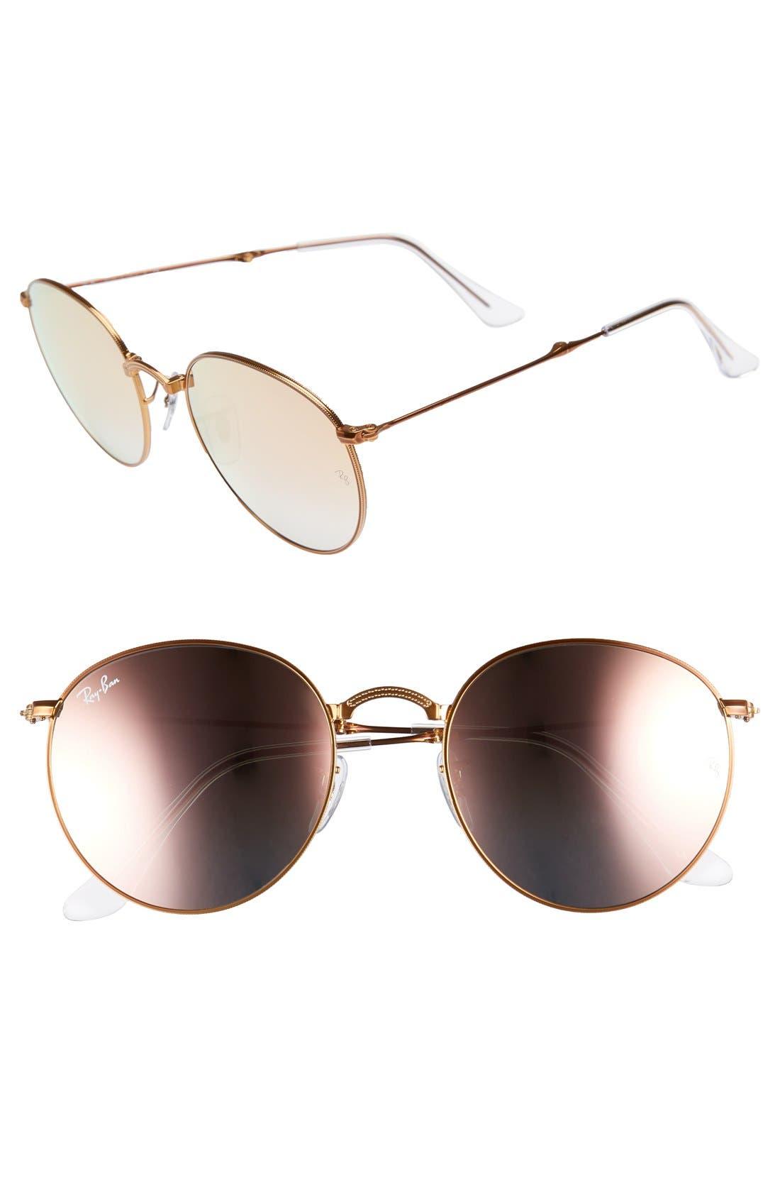 Main Image - Ray-Ban Icons 53mm Folding Round Sunglasses