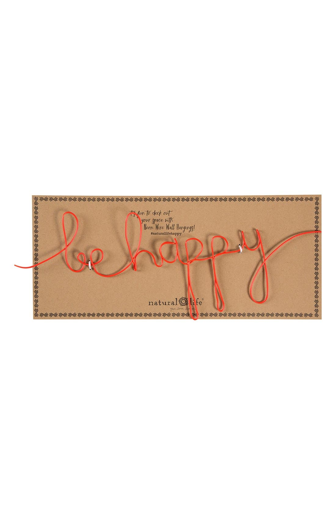 Alternate Image 2  - Natural Life 'Be Happy' Wire Wall Art