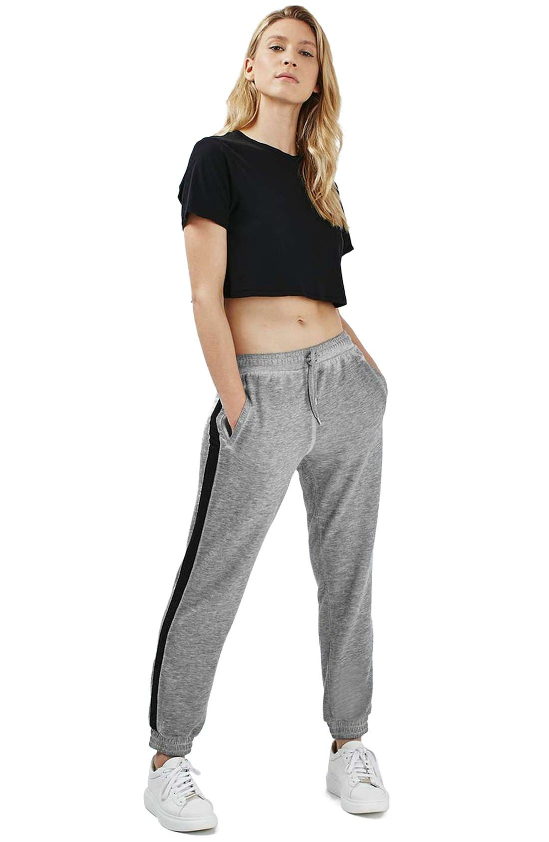 Alternate Image 2  - Topshop Side Stripe Burnout Jogger Pants