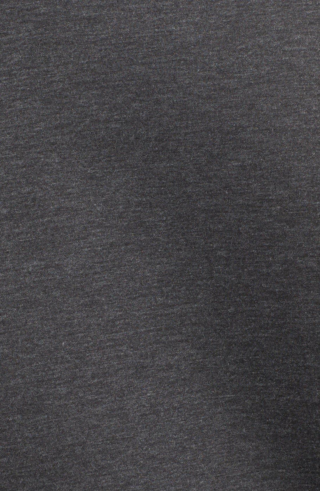 Alternate Image 3  - Tomas Maier Cable Knit & Scuba Fleece Turtleneck
